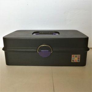 Black /Purple Caboodles Make Up Jewelry Craft Case